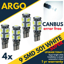 4x 501 T10 W5w 194 Sidelight Bright White Light Xenon Bulbs 12v Side Canbus Smd