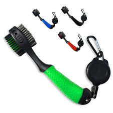 Polymer Oversized Golf Club Brush Retractable Groove Cleaner,With Carabiner Clip