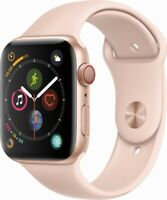 Apple Watch Series 4 GPS+LTE w/ 44MM Gold Aluminum Case & Pink Sand Sport Band