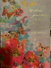 Papyrus Greetings Graduation Card Butterflies with Quote~ Whimsical & Feminine