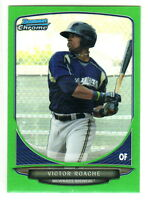 2013 Bowman Chrome Mini GREEN Refractor #15 VICTOR ROACHE 74/75 RC Brewers