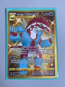 198/185 Galarian Obstagoon Gold Secret Rare Full Art Card Pokemon Vivid Voltage