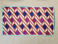 "NWOT (1) Anthropologie King Sham 20"" x 36"" Multicolor Geometric 100% Cotton"