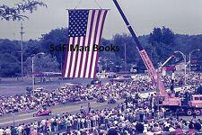 AGFACHROME Slide Ohio Cuyahoga Falls Bicentennial Parade Flag Motorcycles 1976!
