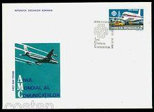 1983 World Communications Year,Airplane Boeing 707,Post truck,Romania,M.3965,FDC