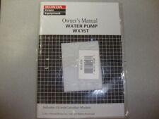 Honda WX15T Water Pump Owner's Manual