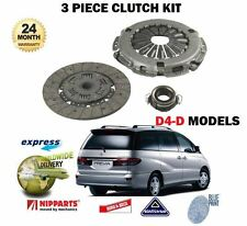 FOR TOYOTA PREVIA  2.0DT MPV D-4D 2001-06/2007 NEW 3 PIECE CLUTCH KIT COMPLETE