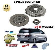 Para Toyota previa 2.0DT MPV D-4D 2001-06/2007 nuevo 3 piezas kit completo de embrague