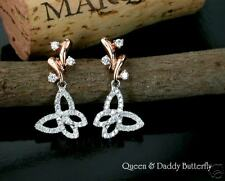 Q & D Butterfly Fine Diamond delicate design earrings!