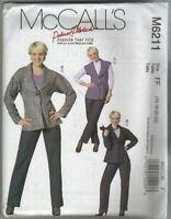 McCalls M6211 Misses Vest Jacket Pants Belt 16-22 Work Palmer/Pletsch Collection