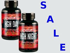 HGH NIGHT 60 cap +  DAY 60 cap  ActivLab  Natural Hormone Enhancer Supplement