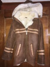 Girls XS Soft faux shearling Toddler Winter Coat Jacket with Detachable Hood