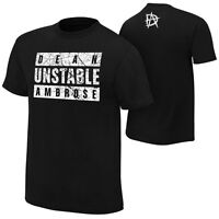 WWE DEAN AMBROSE UNSTABLE AMBROSE OFFICIAL T-SHIRT NEW (ALL SIZES)