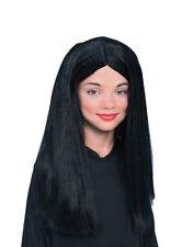 Addams Family Costume Accessory, Kids Morticia Girl Wig