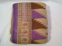 Pottery Barn Found Authentic Kantha Throw Purple/Brown