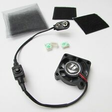 "1.5"" TINY COOLING FAN KIT for Airsoft Mask Paintball Helmet 9 volt Battery power"