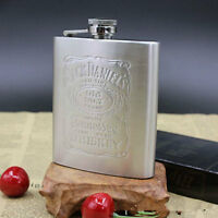 7oz Stainless Steel Can Hip Flask Liquor Wine Alcohol Pocket Bottle Funnel~-