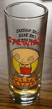 Family Guy Stewie Griffin Death Rattle Tall Collectible Decorative Shot Glass