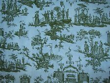 "ZOFFANY CURTAIN FABRIC DESIGN ""L'ile Des Lanternes"" 3.9 METRES LIME 100% LINEN"