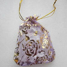 """10 - 100 Organza Gift Bags/Jewellery Pouches - Choice of 8 Colours - 5 x 4"""""""