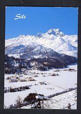 Posted 1998 View of Sils-Maria, in Winter, Switzerland