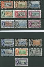 Bahamas SG201-216 1954 Definitives 1/2d to £1 Very lighly mounted