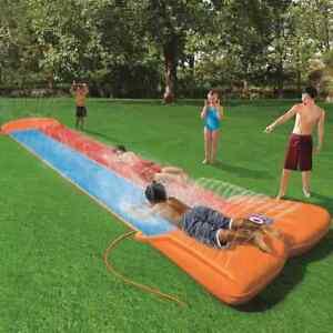 Bestway Wasserrutsche Double Slide Wasserrutschbahn Kinder Rutsche Badespaß