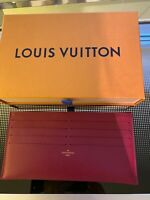 NEW LOUIS VUITTON FELICIE POCHETTE LEATHER  FLAT POCKET WITH 8 CARD SLOTS/ BILLS