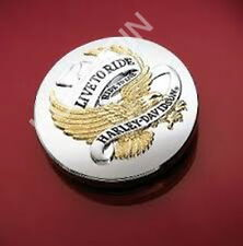 Harley softail dyna sportster live to ride  gas fuel tank cap cover medallion