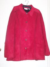Alfred Dunner Woman Jacket Button Close Red 20W**