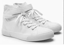 New *NEXT * Size 6 Women's Girls White High Top Basketball Trainers / Sneakers