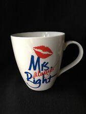 Pfaltzgraff Mrs Always Right White Coffee Mug 16 oz