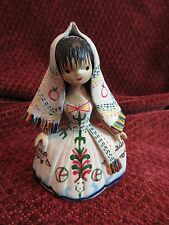 "RARE Vintage BAJA CALIFORNIA NORTE FIGURINE 4"" Lupita Doll FOLK ART GIRL Clay"