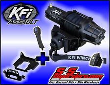 5000 lb KFI Assault Winch Mount Combo - 2014-18 Polaris RZR 1000 XP Turbo