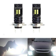 2x 55W H7 CREE 12-LED Headlight High/Low Beam Bulb Kit 6000K 8000LM Super Bright