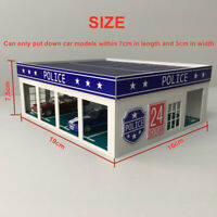 1:64 Outland Models Miniatures 4 Stall Police Large Garage For Trucks / Cars