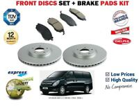 FOR HYUNDAI i800 2.5 DIESEL CRDi 2008-> FRONT BRAKE DISCS SET AND DISC PADS KIT