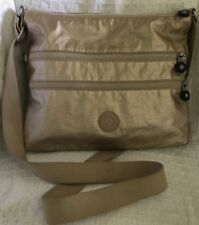 KIPLING Metallic Gold ALVAR Crossbody Purse Bag Messenger-VERY NICE