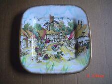 E Johnson And Son Fine China Square Plate Village Scene