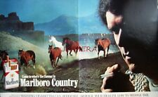 2 x Original 1979 MARLBORO Cigarettes Cowboy ADVERTS #2 - Tobacco Print Ads 492L