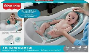 Fisher-Price 4-in-1 Sling n Seat Bath Tub Ages 0+