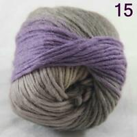 SALE NEW Chunky Colorful Hand Knitting Scores Wool Yarn Purple Grey-green Beige