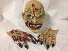 Zombie Halloween Mask with Hands Latex Adult Fancy Dress