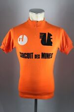 Vintage radtrikot Circuit des Mines s 47cm Cycling Jersey Acrylic wool camisa f3
