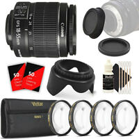 Canon EF-S 18-55mm f/3.5-5.6 IS II Lens with Filter Set For Canon EOS T5 T6 T5i