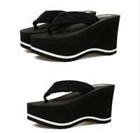 New Sandals Women Platform Wedge Heel Flip Flops Platform Beach Slippers Shoes 6