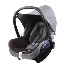 BAMBINIWELT Ersatzbezug 6tlg. Maxi-Cosi CABRIOFIX Baby MELIERT GRAU/DUNKELBRAUN.