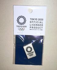 2020 Olympic Games Tokyo Original OFFICIAL SILVER PIN with Original Package NEW!