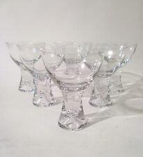 "Iittala 50s 6x vetro champagne ""Tapio"" T. Wirkkala CHAMPAGNE CUP GLASS VERRE ANNEES 50"