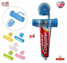 4 x Toothpaste Dispenser Rolling Squeezer  Holder Hanging Suction Plastic Tube